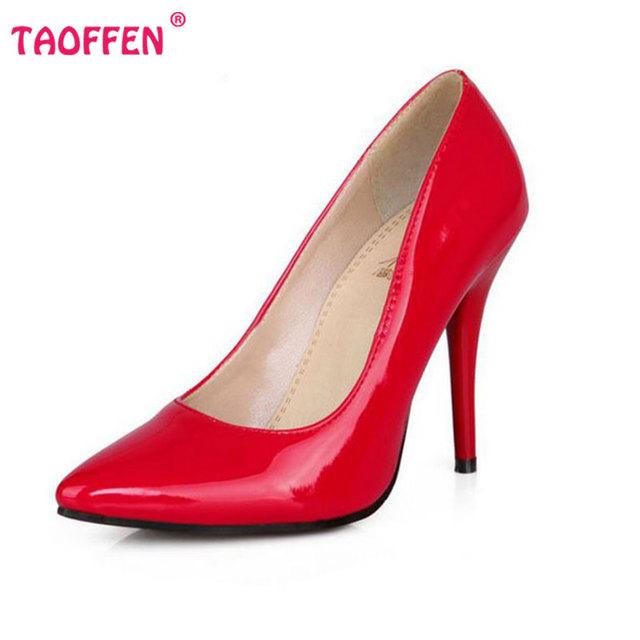Размер 32-44 Женщины Stiletto Туфли На Каблуках Острым Носом Сексуальная Качество ...