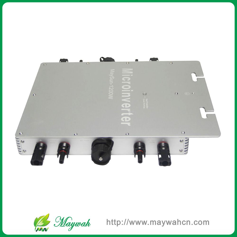 Maywah@MaySun 1200W Waterproof Solar Power Micro Inverter, 22-50V Micro Grid Tie Inverter with 4 MPPT great efficiency(China (Mainland))