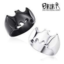 Черный / серебристый / золото бэтмен кольцо полированный из нержавеющей стали логотип ювелирные изделия для человека и мальчик размер сша 6 7 8 9 10 11 12 13 BR6010(China (Mainland))