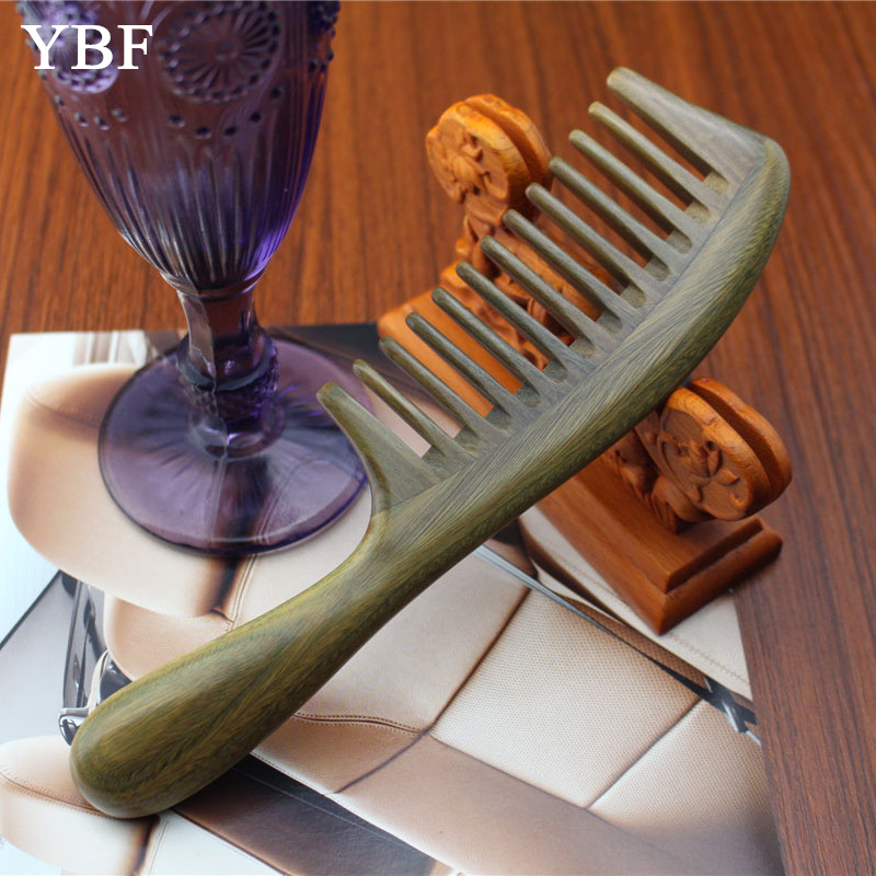 Styling Tools Thickening Green Sandalwood Wood Hair Combs