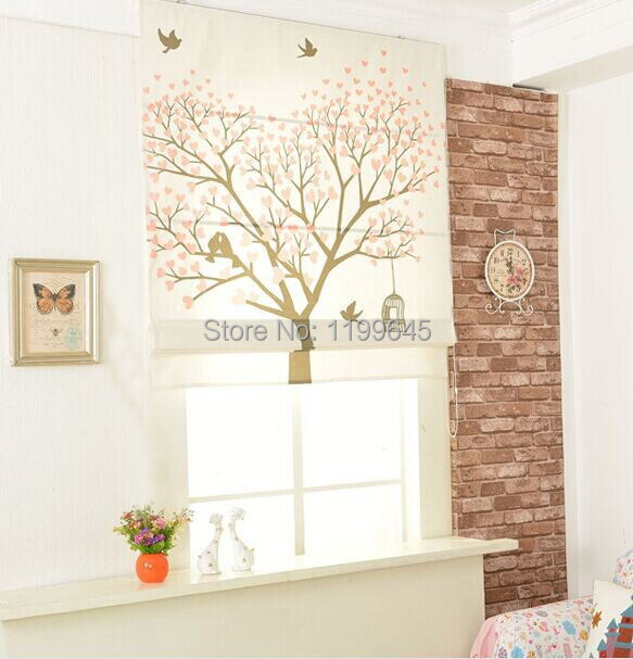 Cartoon Trees Curtains For Bedroom Cotton Linen Towel: Included Curtains New Arrival Thickening Linen/Cotton