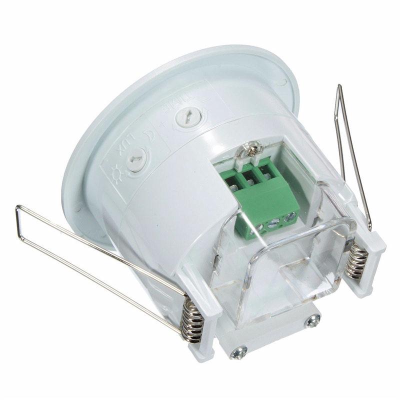 New Electric UnitAC 220V-240V 50Hz 360 Degree Mini Recessed PIR Ceiling Occupancy Motion Sensor Detector Switch(China (Mainland))