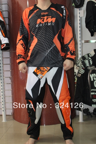 buy 2013 KTM POWERWERR Jersey+pants Race Motocross Suit motorcycle jersey moto clothing set Racing Cross country off,road T,shirts