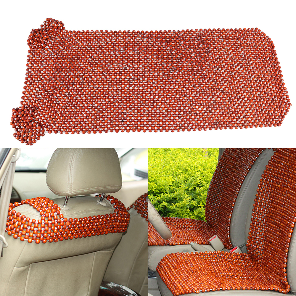 Car Styling African Rosewood Bead Front Seat Massages Cover Auto Chair Cover Cushion Beaded Seats Covers(China (Mainland))
