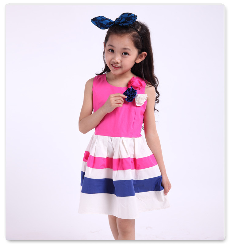 2015 summer fashion kids infant clothing girls princess dress 3 4 5 6 7 8 9 10 11 12 13 years old kids clothes A415(China (Mainland))