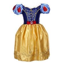 2019 Meninas Vestido de Verão Crianças Cinderela Branca de Neve Cosplay Traje Do Bebê Menina Vestido de Princesa Rapunzel Belle Aurora Vestido Vestidos(China)