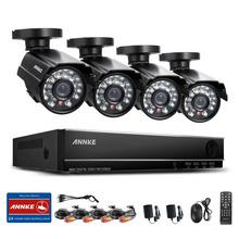 ANNKE 8CH CCTV HDMI DVR 4PCS 900TVL IR Weatherproof Outdoor CCTV Camera Home Security System Video Surveillance Kits RU Stock