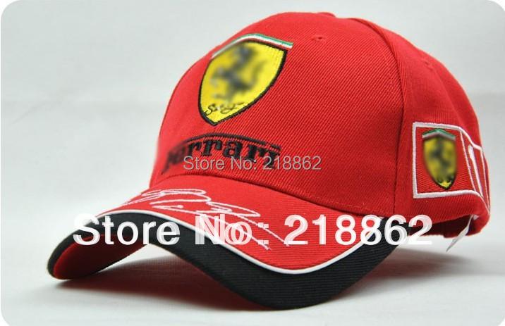 Retail men/women red baseball cap,bSummer car team hat lack/red/blue motorcycle party f1 racing cap - lu fei's store