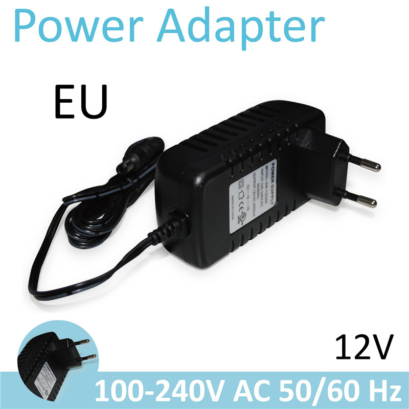 H Universal Power Adapter Plug Socket Power Charger 12V 2A 1.5m EU Power Supply For H/ Wansview Bullet Dome IP Camera(China (Mainland))