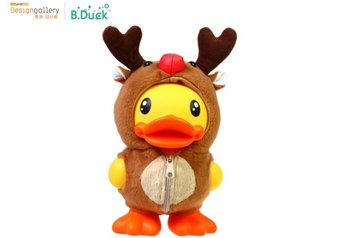 Holiday sale free shipping semk luft b duck toys,B.duck figure cos Christmas deer for Piggy bank  23CM Height for xmas gift