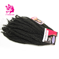 Afro Kinky Twist Braid Curly Synthetic Hair Bulk Extensions Marley Braid Synthetic Braiding Hair