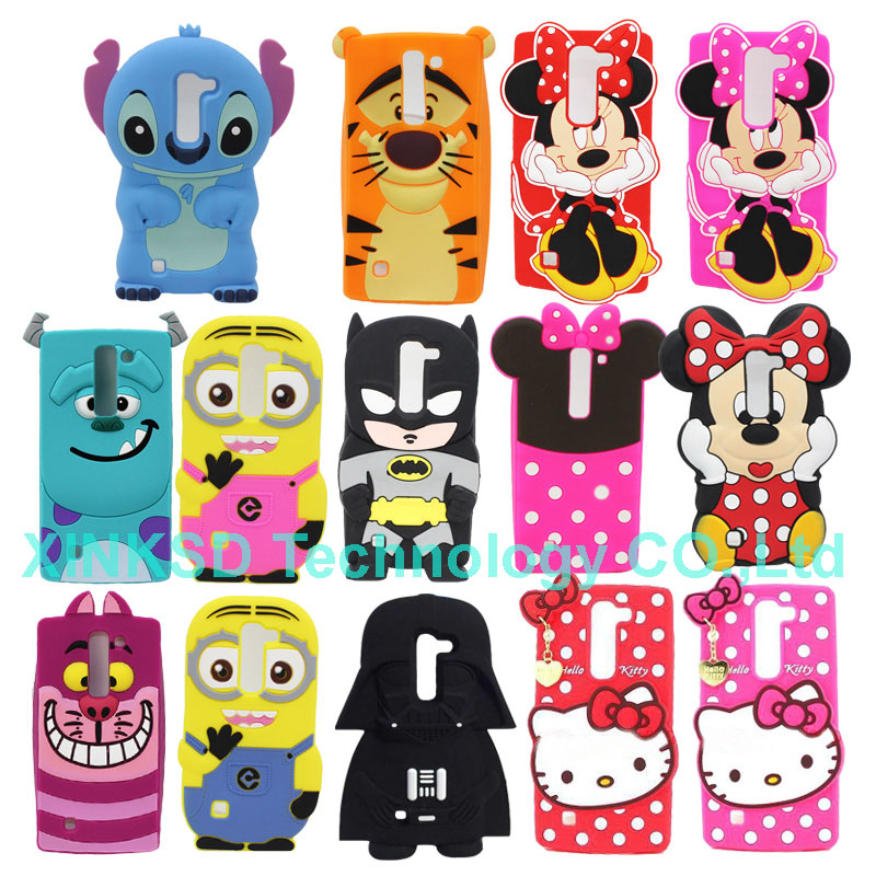 New Arrival 3D Cartoon Hello Kitty Minnie Minion Batman Darth Vader Sillicone Case For LG G4 BEAT G4S G4 S G4C Cover Phone Cases(China (Mainland))