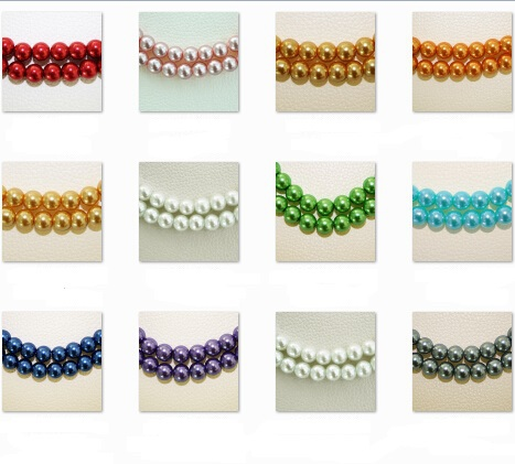 High Quality 4mm 100pcs White Black Red Green round glass pearl spacer loose beads Many colors to pick for DIY PS-BBD010(China (Mainland))