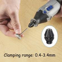 0.4 – 3.4 mm portabrocas sin llave Universal rectificadora eléctrica Chuck para Dremel