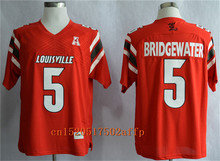 Nike 2017 Louisville Cardinals Teddy Bridgewater 5 AAC Patch College Authentic Boxing Jersey Authentic Jersey - Red(China)
