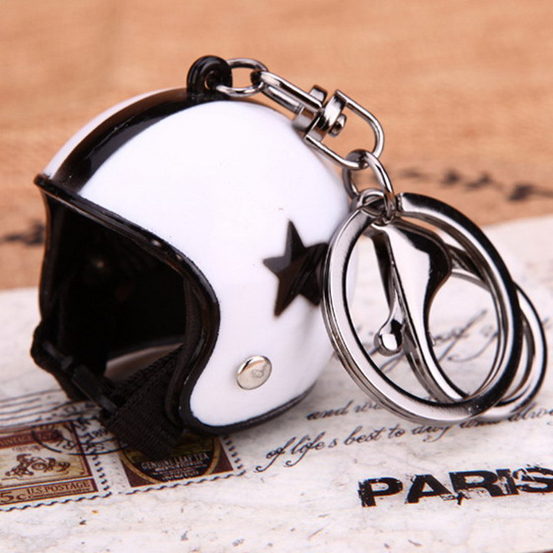 Mini Sport Motorcycle Helmet Pendant Keychain Unisex Keyring Key Chain Ring Finder Accessories Knight Gifts Wholesale K-071(China (Mainland))