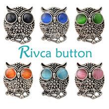 Buy Rivca Snap Button Jewelry Owl style 18mm Snap Button Bracelets Bangles Men Colorful Rhinestone Charm Bracelets Women for $3.34 in AliExpress store