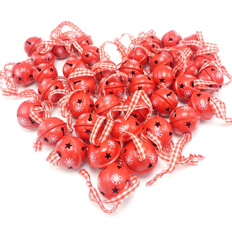 Christmas decoration pcs red metal snowflake jingle