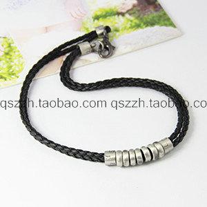Fashion necklaces pendants Rock Punk Men jewelry multi circle Pendant vintage Genuine leather necklace collares