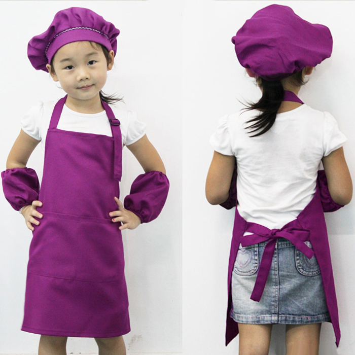 20x Little Chef Cute Kids Child Children Cooking Baking Tools Kitchen Dining Apron 7 COLORs Aprons # A3570(China (Mainland))