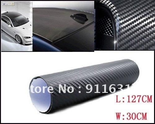 """30cm x127cm 12""""x50"""" Car 3D Carbon Fibre sticker Vinyl Sheet Carbon Phone Sticker For All Car Waterproof Color Choose"""