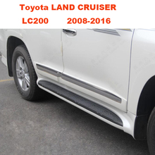 For Toyota LAND CRUISER LC200 2008-2016 Running Boards Auto Side Step Bar Pedals High Quality Brand New Nerf Bars