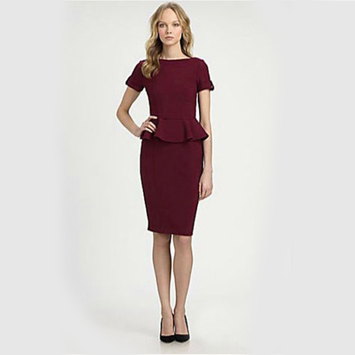 Popular Summer Office Dress Women Elegant Business Work Wear Dress Elegant Formal Dresses Sexy Party ...