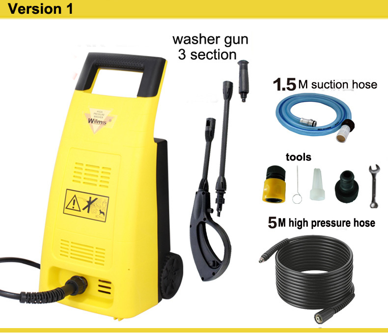 Household wilms high pressure car washer water gun car wash device high pressure cleaner portable 220v kr220(China (Mainland))