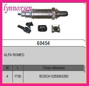 Alfa Romeo 33 Berlina oxygen sensor lambda sensor o2 sensors Sonde lambda 0258003290(China (Mainland))