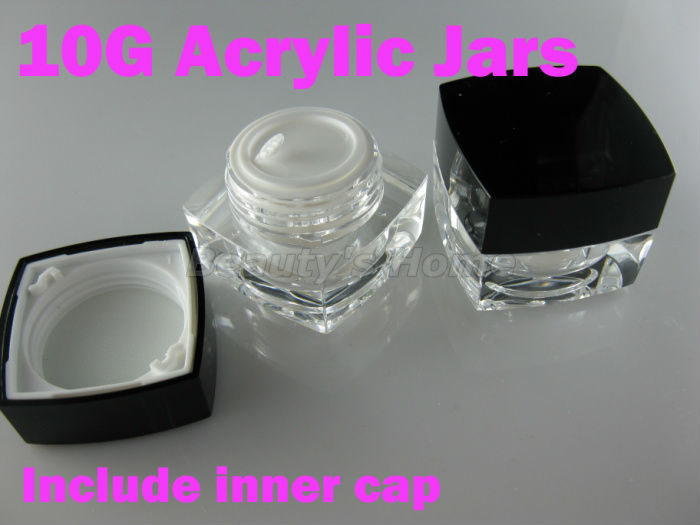 10g acrylic jars cosmetic cream jar refillable bottle Transparent Small Empty Bottle #1347 - Packing Supplier(Bottles and Jars store)