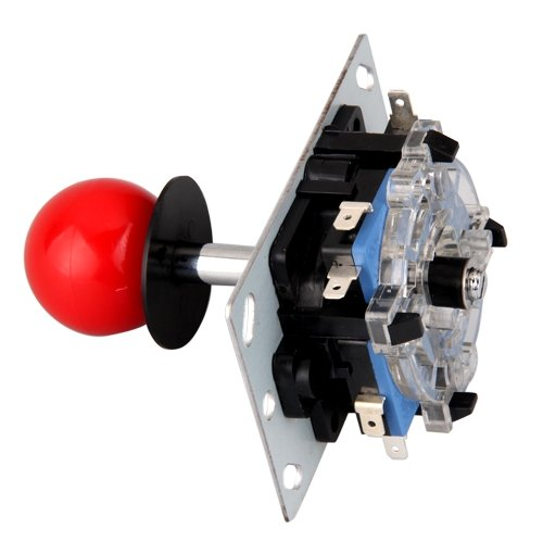 image for EDT-Pin 8 Modes Red Ball Joystick For Arcade Machine Console Recreatio