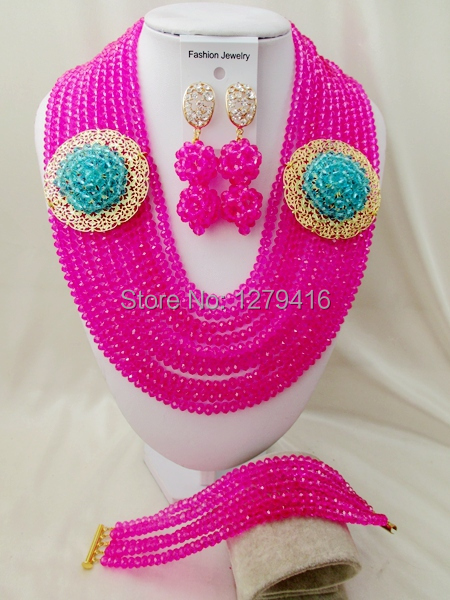 The latest fashion of Nigeria Africa wedding beads, necklace bracelet earrings suit   asd3069<br><br>Aliexpress