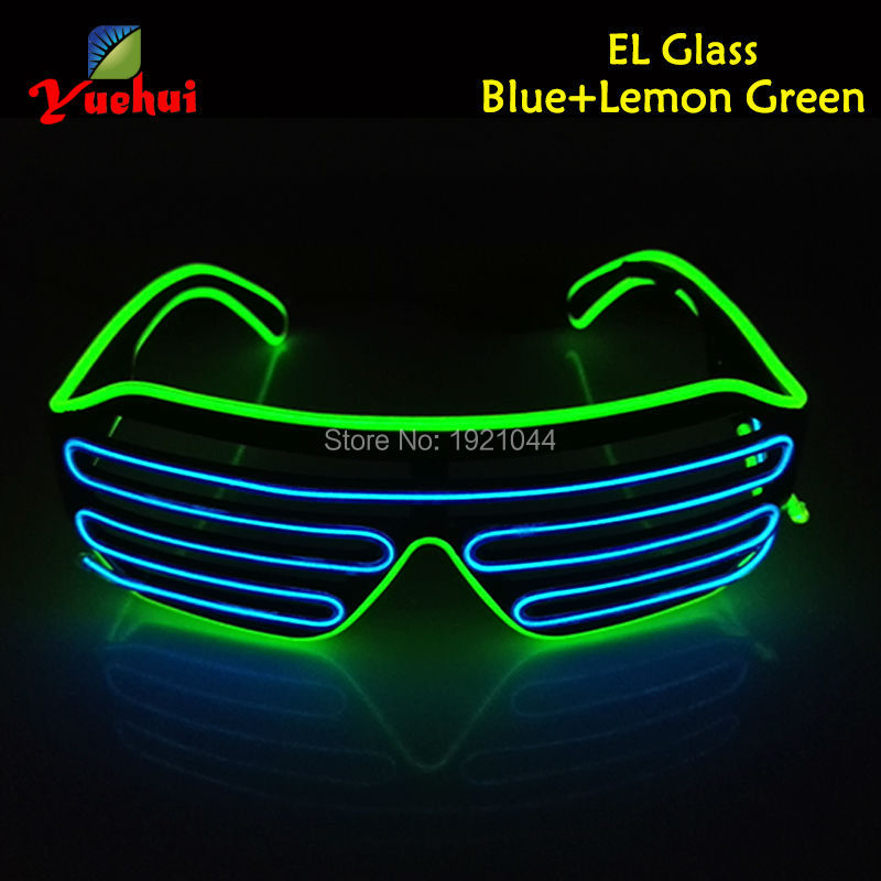2016 New Cold Light Party Decoration Powered By DC-3V Steady on EL Wire Lemon Green and Blue Glasses Tube Rope Flexible Neon(China (Mainland))