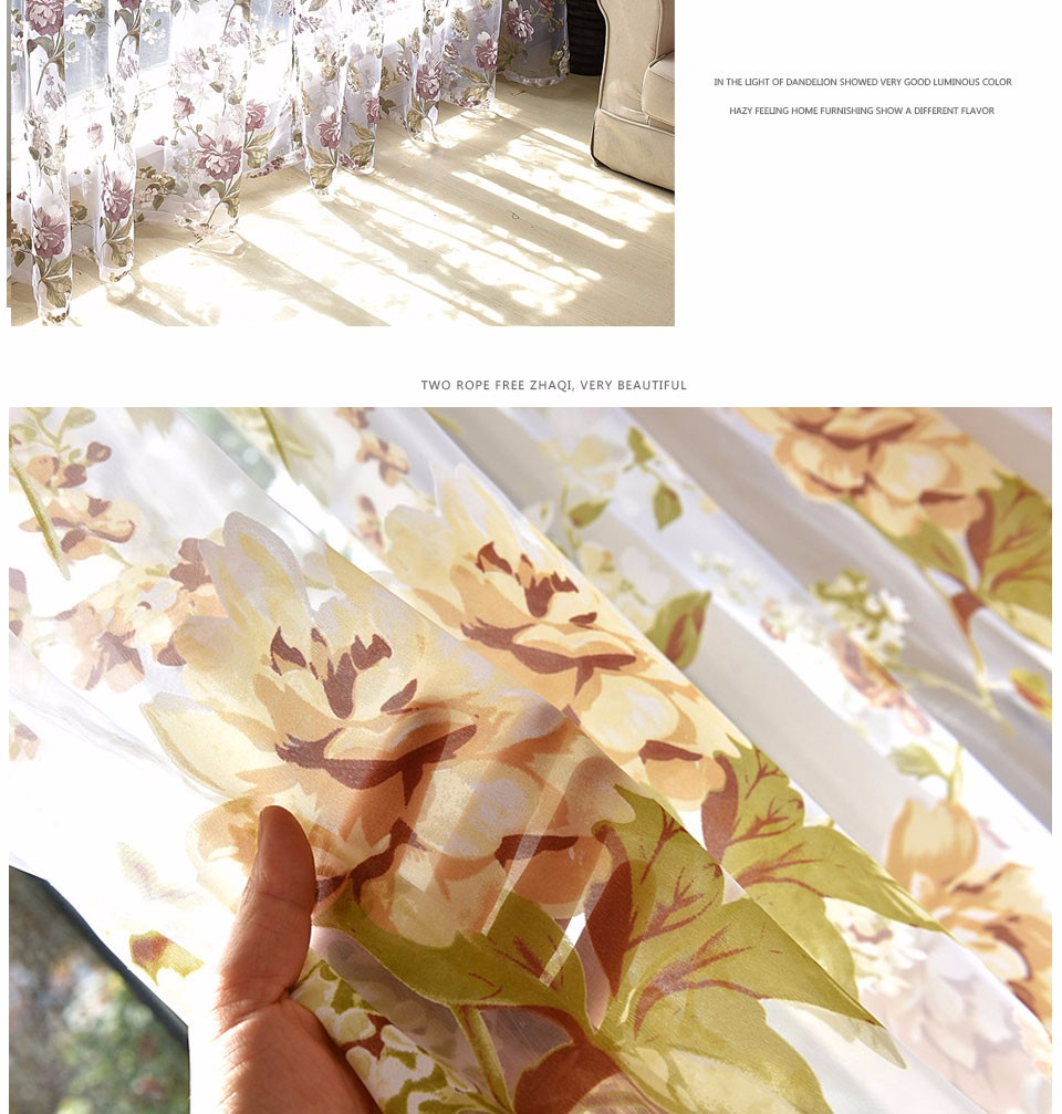 Modern Foral Tulle Curtains For Living Room Purple Curtains For Children Bedroom Door Short Kitchen Window Curtains Kids Drapes