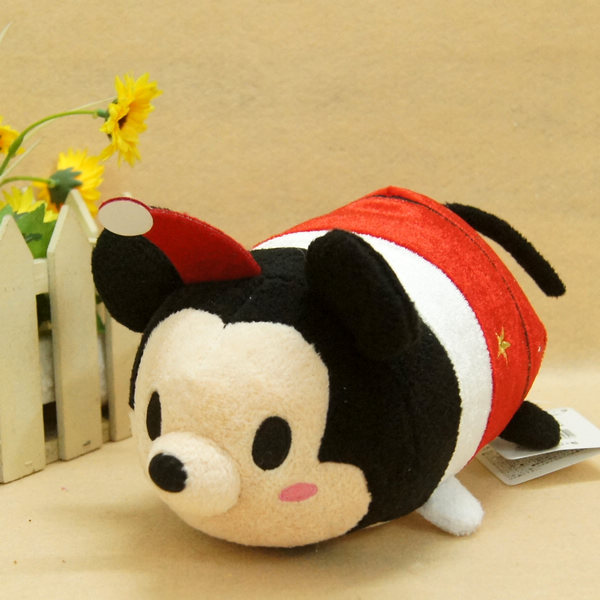 New Special Christmas Style TSUM TSUM Mickey Mouse Minnie Mouse Cute Soft Stuff Plush Toy Doll Baby Birthday Gift(China (Mainland))