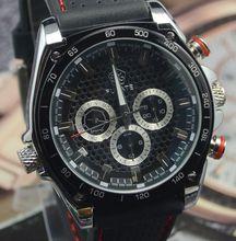 Fuyate para hombre negro 6 calendar aguja comerciales personalizado reloj mecánico completamente automático para hombre de moda j187