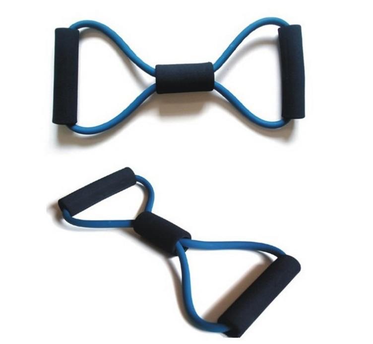 New 2015 Resistance Band Tube Workout Exercise Elastic Band Fitness Equipment Yoga(China (Mainland))
