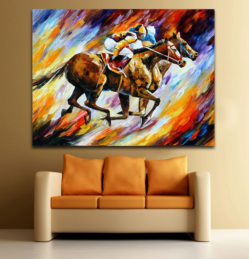Online Get Cheap Horse Racing Painting