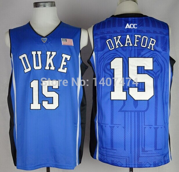 Exclusive High Discount Sales/#15 Jahlil Okafor,Duke Blue Devils NCAA College Basketball Jerseys,2014-2015 New Style Jersey, Emb