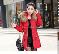 новые женские зимние вниз куртка с капюшоном мех воротник Куртка Пальто теплые пуховики плюс размер l-3xl zy152