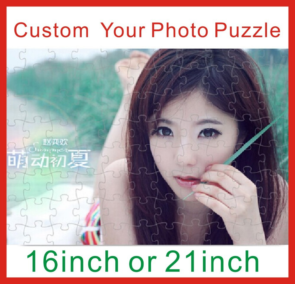 21inch Custom your photo Puzzles Gift for your family and friend.have other size can be choose in our shop(China (Mainland))