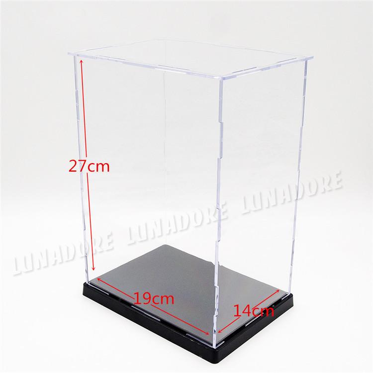 US warehouse/shipments.Dollhouse Clear UV Acrylic/Plastic Display Box Case 19cm(L)x14cm(W)x27cm(H)(China (Mainland))