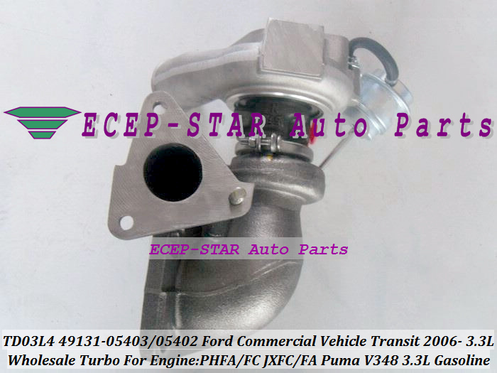 TD03L4 49131-05403 49131-05402 Turbo Turbocharger For Ford Commercial Vehicle Transit 2006- PHFA PHFC JXFC JXFA Puma V348 3.3L (1)