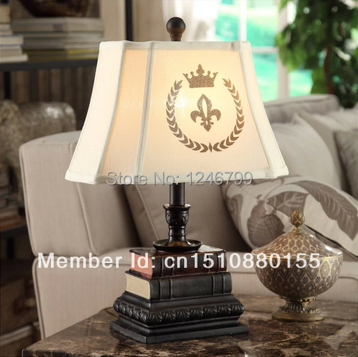 European Style Vintage Fabric Creative Table Lamps Living Room Bedroom Fabric Desk Lights Bedside Lamps(China (Mainland))