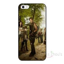 For iphone 4/4s 5/5s 5c SE 6/6s 7 plus ipod touch 4/5/6 back skins mobile cellphone cases cover The Walking Dead Protective