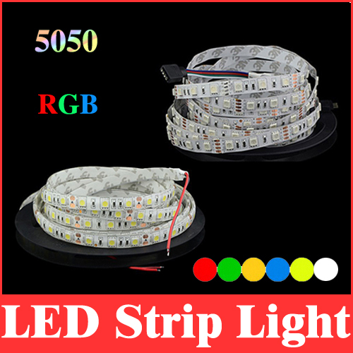 rgb 5050 led strip light 16.4ft 5m waterproof / non-waterproof 12v smd rgb/red/green/blue/yellow/white/warm white lights RS05(China (Mainland))