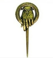 Free shipping Hand of The King Pin brooch from hot moive Game of Throne A Song of Ice and Fire Popular Moive Jewelry Wholesale(China (Mainland))