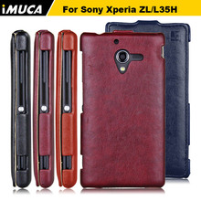 Buy Leather Case Sony Xperia ZL L35h Covers IMUCA Phone Cases Sony Xperia ZL L35H C6502 C6503 Vertical Flip Case Coque for $5.92 in AliExpress store