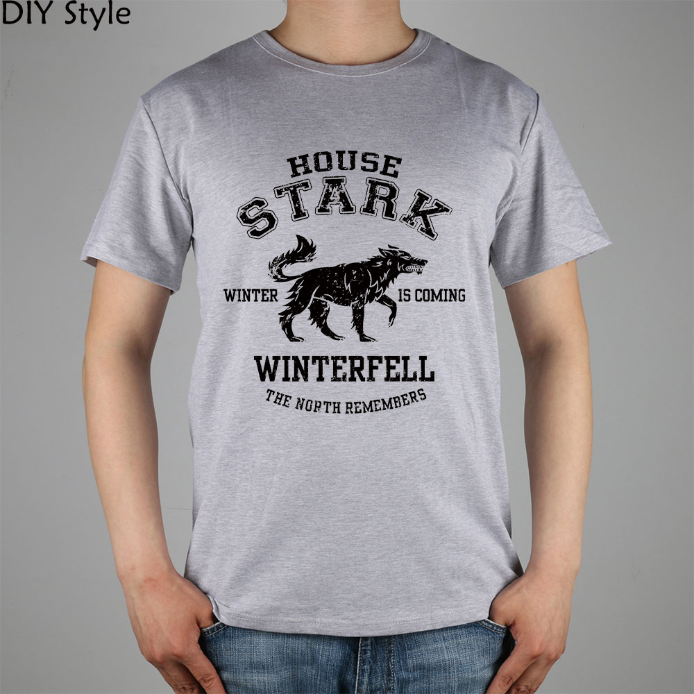 JY HOUSE STARK GAME OF THRONES T-shirt top Lycra cotton Fashion Brand men t shirt high