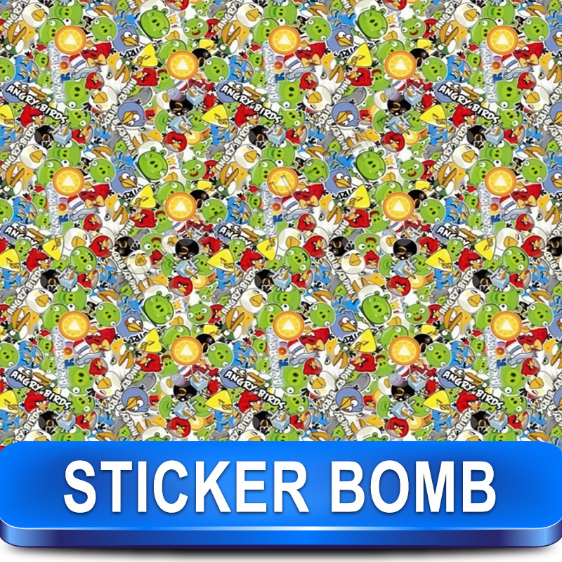 Stickerbomb Vinyl Wrapping Car Sheet Film cute birds Design / Best Non-Pixelated print / Size: 1.52 x 30 Meter / k-7(China (Mainland))
